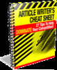 Article Writers Cheat Sheet (PLR)