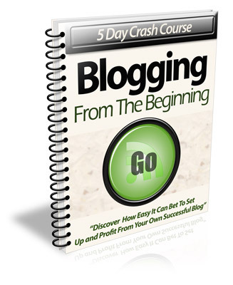 Product picture 5 Day Crash Course Blogging From The Beginning with PLR