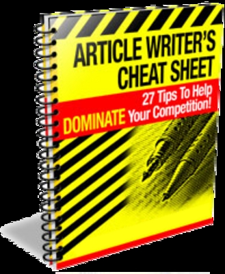 Product picture Article Writers Cheat Sheet (PLR)